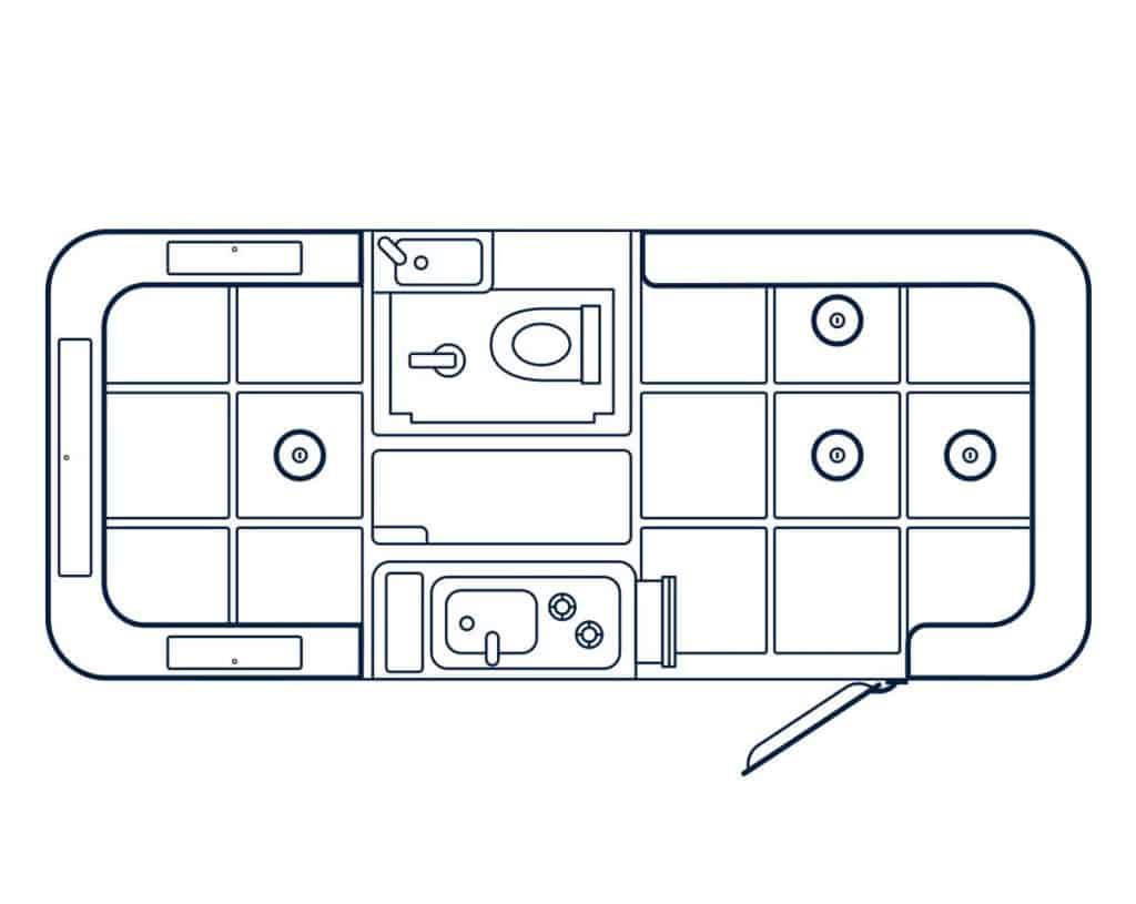Happier Camper Traveler Floorplan