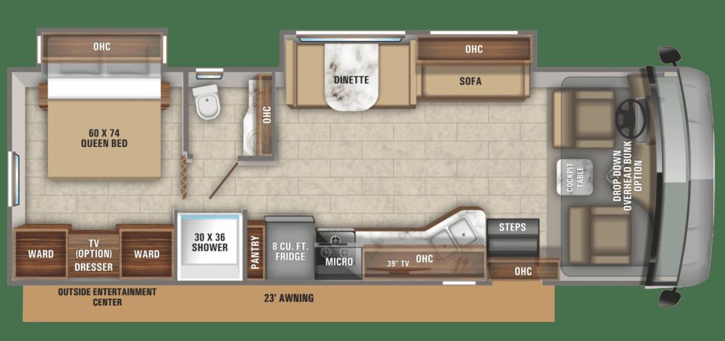 Jayco Alante 31V Floorplan