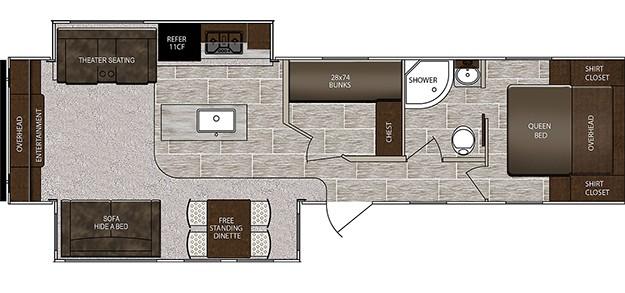Prime Time RV LaCrosse Floorplan