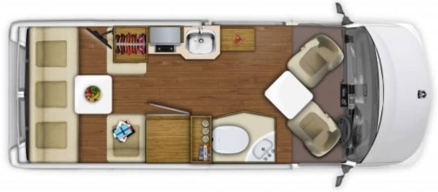 RoadTrek Zion SRT Floorplan
