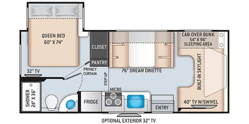 Thor Motor Coach Quantum GR22 Floorplan