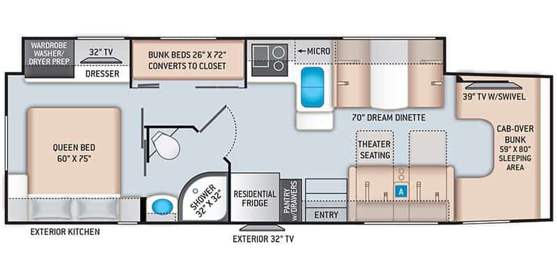 Thor Motorcoach Magnitude RB34 Floorplan