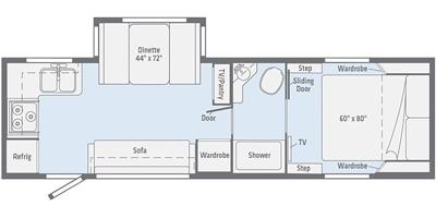 Winnebago Micro Minnie 2405RG Floorplan