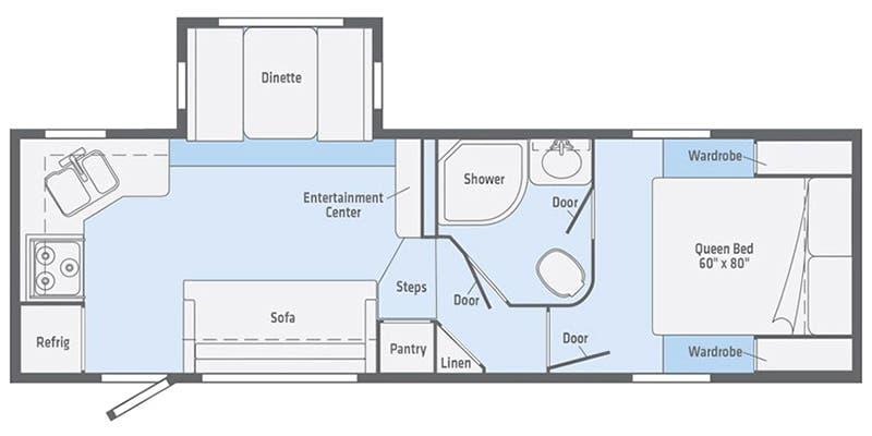 Winnebago Minnie Plus 25RKS Floorplan