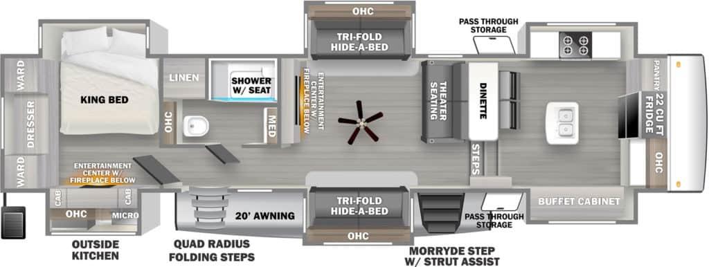 Woods River Sierra 38FKOK Floorplan