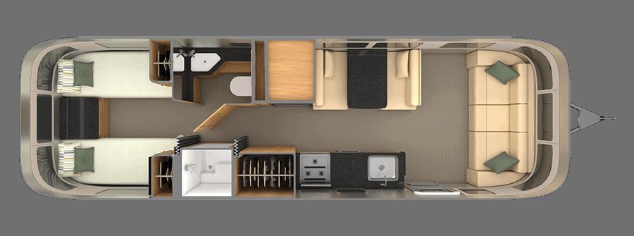 Airstream Classic Floorplan