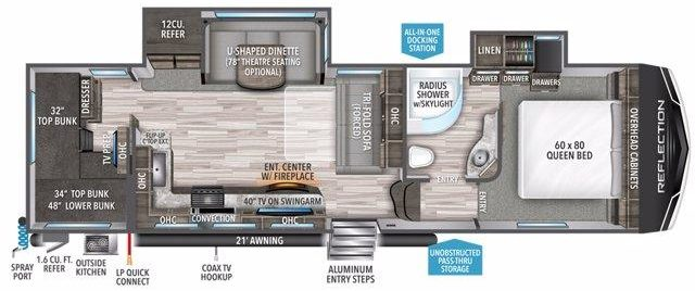 Grand Design Reflection 28BH Floorplan