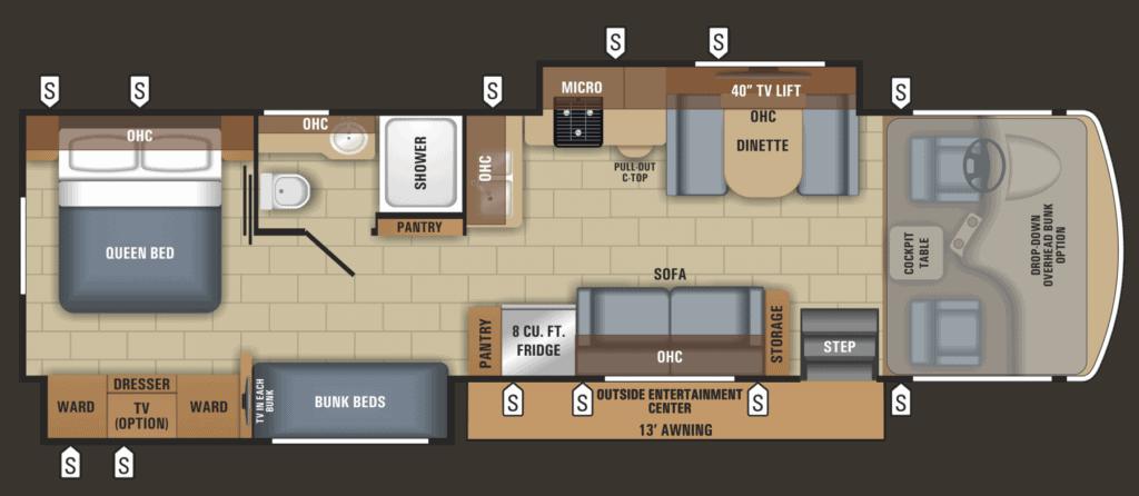 Jayco Alante 31R Floorplan