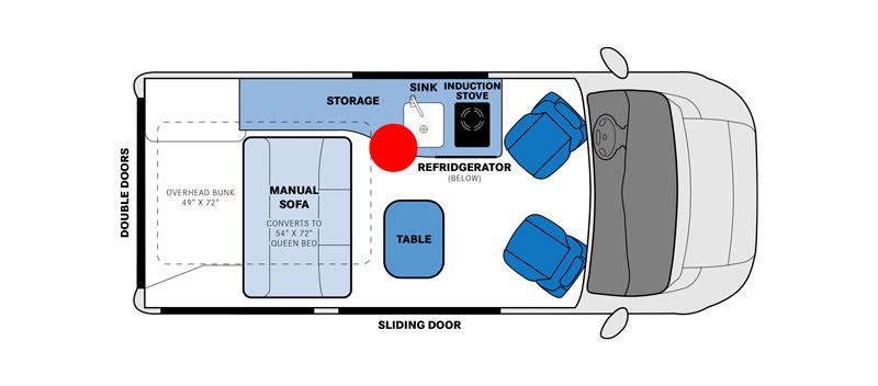 Pleasure-Way Tofino Floorplan