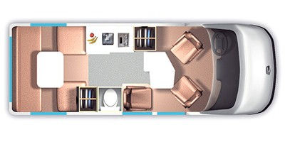 ROADTREK E-TREK Floorplan