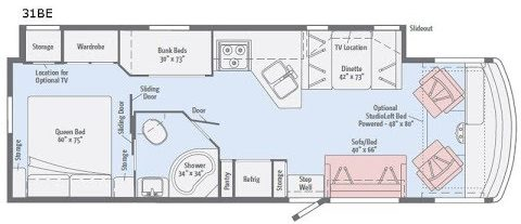 Winnebago Vista 31BE Floorplan